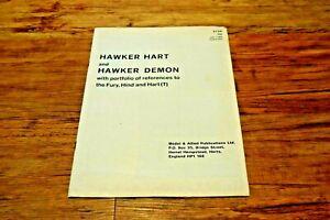 HAWKER HART DEMON Hart Fury Hind booklet Model Allied Scale Data Portfolio RARE