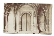 Vintage RP postcard Cloisters of Canterbury Cathedral. Duplex cancel 1905
