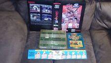 SNK (Original) MVS Fatal Fury 2, Moves Sticker, Original Marquee and Shock Box