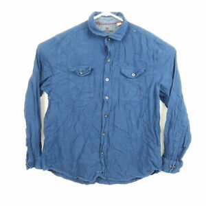 Woolrich Mens Shirt Size XL Blue Flannel Long Sleeve Button-Down Front Pockets