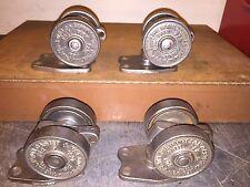 "3-1/4"" Large Vintage 1921 Hamilton ""Run Rite"" No. 8 Industrial Casters Set Of 4"