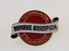 Ontario 5 Pin Bowlers' Association League Champion Lapel Pin Bowing Souvenir