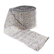 10yard Silver Snowflake Crystal Beaded Ribbon Trim Sewing Applique DIY Craft