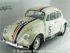 VOLKSWAGEN BEETLE MODEL CAR HERBIE 1:24 SCALE ROAD SIGNATURE CREAM NO 53 1967 K8