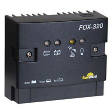Dual Battery Solar Charge Controller Sunware FOX-320 20A 12V 24V for RVs boat