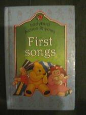 LADYBIRD FIRST SONGS ACTION RHYMES  ISBN NUMBER 0721411223