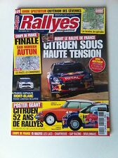 RALLYES MAGAZINE N°225 RALLYE DE FRANCE 2011 LOEB OGIER CITROEN WRC RALLY