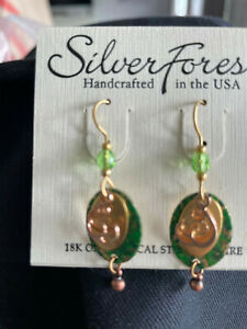 Silver Forest  NEW IN PACKAGE  Surgical Steel Gold tone earrings