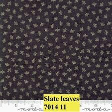 MODA HOME 100% cotton fabric by the yard - Leaves on SLATE  Small Print