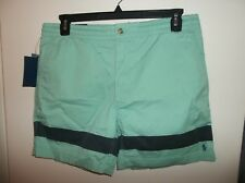 NWT Mens Large Polo Ralph Lauren Offshore Green Classic Fit 6 Inch Shorts New