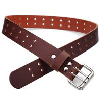 """BUFFALO LEATHER CASUAL BELT STRAP/_Buckle Included/_1-1//2/"""" Handmade BLACK /_BROWN/"""""""