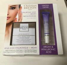 Christian Breton Anti-Ageing Argan & Hyaluronic Acid Cream+ Eye Care Gel RRP £70