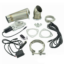 2.5 Inch Remote Electric Exhaust Cutout Downpipe Kit E-Cut Catback Valve System