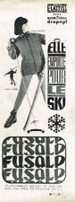 M- Publicité Advertising 1963 Les Vetements de ski Fusalp