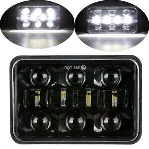 """4x6"""" Inch 60W LED Headlight Lamp H4 Square Sealed Beam Projector Driving Truck"""