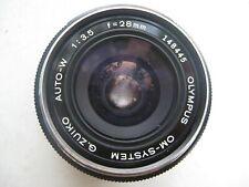 Olympus 28mm f3,5 OM à baïonnette Objectif argentique pour tous les boîtiers OM