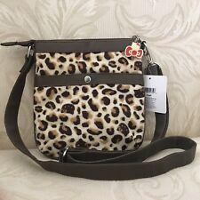 Sanrio Hello Kitty Cross Body Zipper Bag Cheetah Leopard Prints NEW with Tag