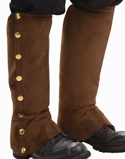 Mens Gangster Western Adult Shoe Covers Brown Victorian Steampunk Spats