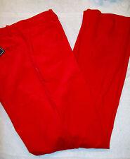 Ralph Lauren Golf Women's Cotton Blend Corduroy Pants  Red NWT size 14 $145