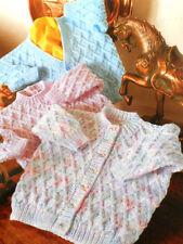 "LATTICE modello baby sweater & Cardigan DK o 4 Ply 16 "" -22"" knitting pattern"