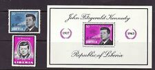 Liberia # 414 & C160-61 MNH Complete W/SS Kennedy