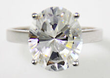 3 ct Oval Ring Vintage Brilliant Top Russian CZ Moissanite Simulant Size 4