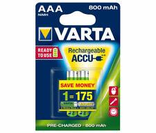 Varta AAA (Micro)/HR03 (56703) - 800 mAh LSD-NiMH Akku (Ready-to-Use), 1,2 V