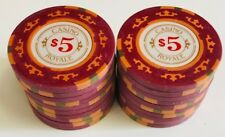 (25) $5 CASINO ROYALE POKER CHIPS