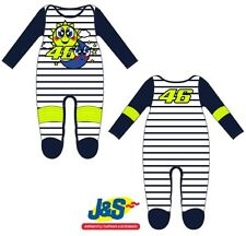VR46 Sun And Moon overall baby Sleepsuit Genuine Valentino Rossi 1 pièce 46 j&s