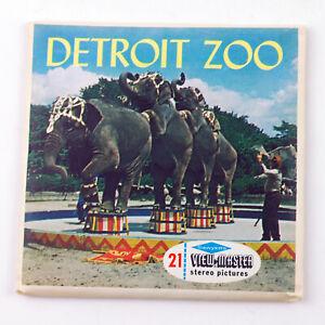 Vintage View-Master Reels Set Packet A581 DETROIT ZOO Detroit Michigan 1959
