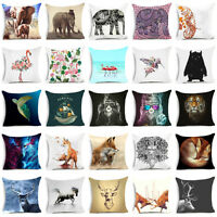 18'' Polyester Animal pillow case for sofa Car official cushion cover Home Decor