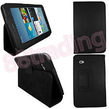 Nero FLIP Pelle CUSTODIA COVER PER SAMSUNG GALAXY TAB 2 7.0 P3100 P3110 + SP Film