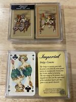 Vintage Bridge Canasta Playing Cards W/Box Made In West Germany + Imperial Decks