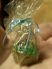 Nice New Miniature Basket With Foil Eggs for Doll House