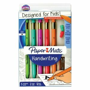 New Paper Mate PaperMate Early Learning Mechanical Pencils 5 Count