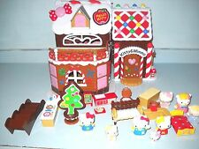 Hello Kitty & Miffy Navidad Pan De Jengibre Casa con muebles y 8 Kittys
