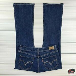 Levi's 518 Super Low Boot Cut Women's Dark Blue Jeans Juniors Size 11 S 30 X 30