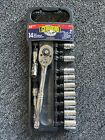 "Gearhead 3/8"" Drive Metric Socket &Ratchet Handle Set, 14-Piece GH4253"