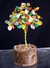 Beautiful All Natural Multi-color Gemstone Tree, 100 Wire Wrapped Stones, Unique