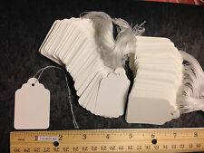 200 New Price Tags #7 White Retail Merchandise Strung Scallop Blank Sale Size 7