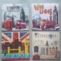 SET OF 4 FRIDGE MAGNETS LONDON ICONS SOUVENIR FREE  MAGNET BIG SIZE  9CM X9CM