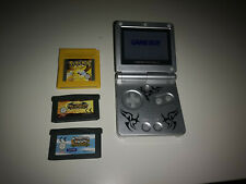 Nintendo Game Boy Advance SP 101 Tribal Silber Handheld-Spielkonsole