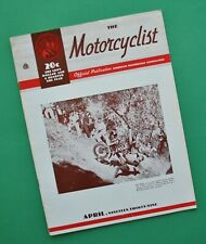 1939 Motorcyclist Magazine Harley EL UH 1939 Models Indian Scout Chief Four