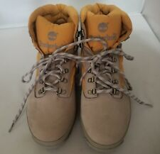 Timberland Men's Hiking Boots Grey Suede and Tan Textile Size 13 M