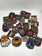 Lot Of 25 Vintage Cloth Medal Patches Various Countries Gold Thread
