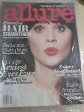 february 2012 Allure Zooey Deschanel sexy cover SEALED issue Sexiest Eyes Ever
