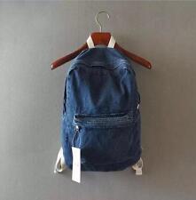 Vintage Wash Distressed Casual Denim Backpack Rucksack School Travel Bag UniSexQ