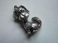 alter, kleiner Anhänger, Hund, 835iger Silber, Charm