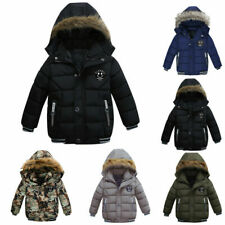 Toddler Baby Kids Boys Girls Winter Warm Coat Thick Hooded Parka Padded Jackets