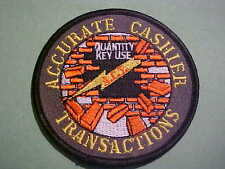 ACCURATE CASHIER TRANSACTIONS (HOME DEPOT)  EMBROIDED IRON ON PATCH  3